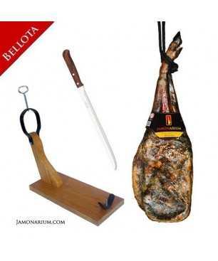 Pack J1 - Épaule ibérique Bellota, support à jambon et couteau