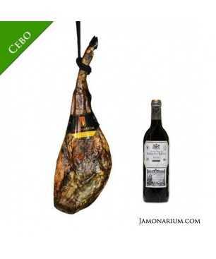 Pack J16 - Jamón ibérico de Cebo y Rioja Reserva