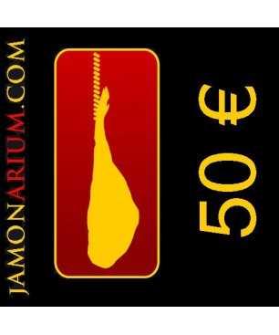 Cheque regalo 50€ para comprar en Jamonarium.com