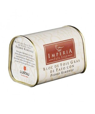 Duck foie gras block with Pedro Ximenez Imperia (130gr)