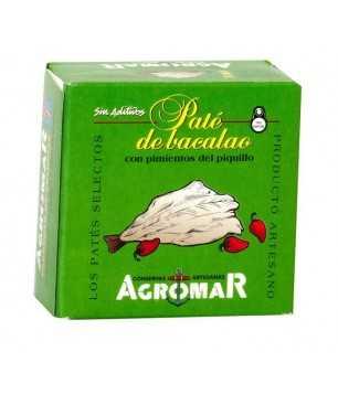"""Patè di merluzzo con peperoni del """"piquillo"""" Agromar (latta 100gr)"""
