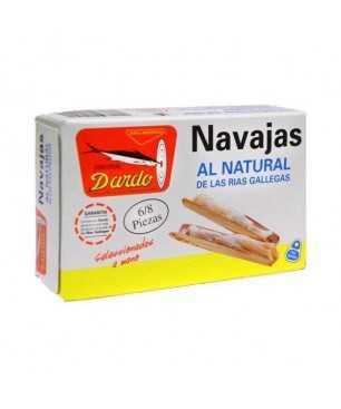 Natürliche Rasiermessermuscheln 3/5 Stück Dardo (Galizischen Rías)