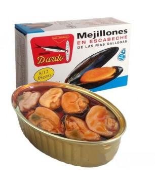 Miesmuscheln in Olivenöl Dardo 8/12 Stück (Galizischen Rías)