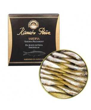 """Petites sardines à l'huile d'olive Ramón Peña 25-30 unités """"Étiquette Noir """""""