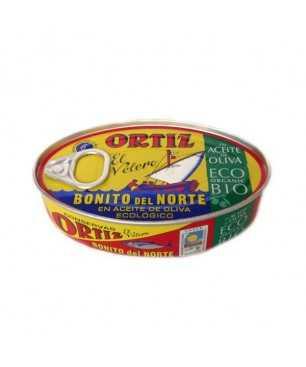 Ortiz Thunfisch der Sorte Bonito del Norte (Weißer Thunfisch) in Bio-Olivenöl 112gr.