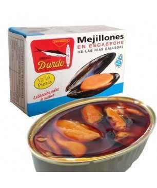 Miesmuscheln in Olivenöl Dardo 12/16 Stück (Galizischen Rías)
