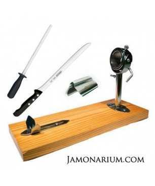 Pack A2 -  Jamonero Segovia, cuchillo Arcos y pinzas