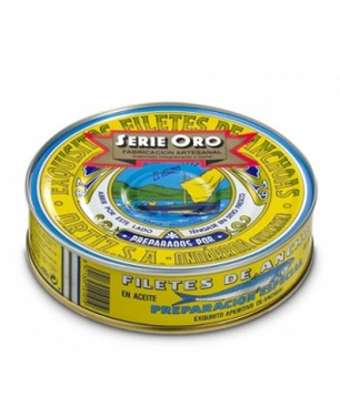 Anchoas Ortiz en aceite de oliva RO-550 Serie Oro 67-75 Udes