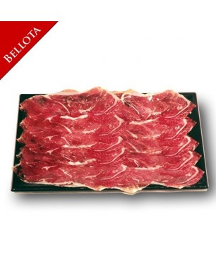 Sliced iberian Bellota spanish shoulder ham Pata Negra (tray)