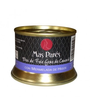 Duck foie gras with figs block Mas Parés (130gr)