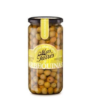 Green olives Mas Tarrès, Arbequina variety (450gr)