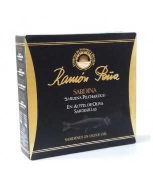 """Sardines à l'Huile d'Olive Ramón Peña (30/35 unts) """"Étiquette Noir """""""