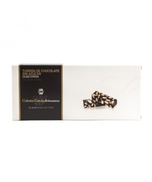 Schokolade mit Mandeln nougat (turron) Selection, Coloma García