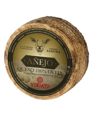 Dry cured Cheese Viriato Añejo with raw sheep milk