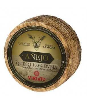 Queso curado seco Viriato Añejo de leche cruda de oveja ENTERO 2,6 kg