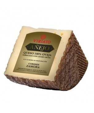 Queso curado seco Viriato Añejo de leche cruda de oveja - cuarto