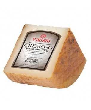 Cured semi-dry cheese Viriato Cremoso with raw sheep milk - 1/4 in box