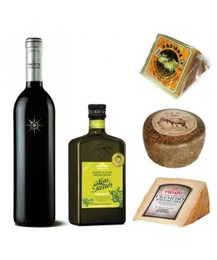 Hamper Premium Oil + cheese + wine