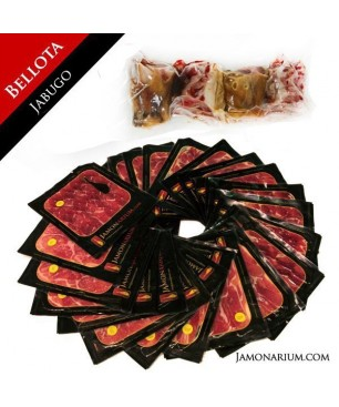 "Bellota 100% Pure Iberian Ham  ""Pata Negra"" (Jabugo, Huelva) WHOLE sliced"
