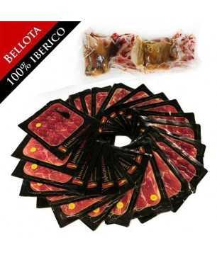 Bellota Iberian ham, 100% Iberian breed Pata negra - WHOLE sliced