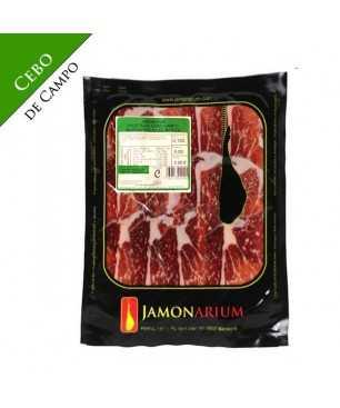Jamón de Cebo de Campo Ibérico, 50% Raza Ibérica cortado 100g