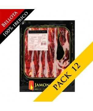 PACK 12 - Bellota iberische Vorderschinken, 100% iberico (Jabugo) - Pata Negra geschnitten 100g