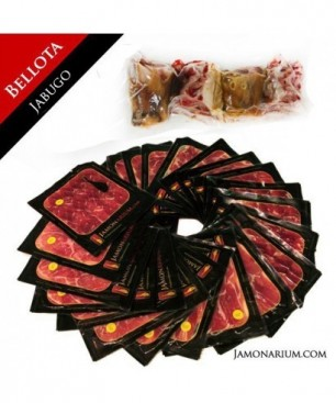 Bellota Iberico Ham (Jabugo, Huelva), 100% Iberian Bellota - Pata Negra WHOLE sliced