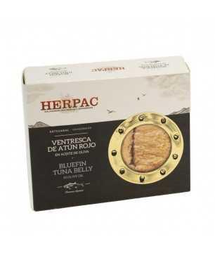 """Bluefin tuna """"Ventresca"""" in olive oil Herpack 245 gr."""