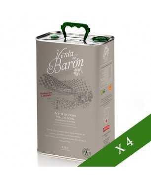 BOX x4 --- Venta del Barón Coupage 2.5L, Olio Extravegine di Oliva, DO Priego de Córdoba