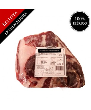 Bellota 100% pure Iberian Shoulder (Extremadura) - Pata Negra BONELESS - caña