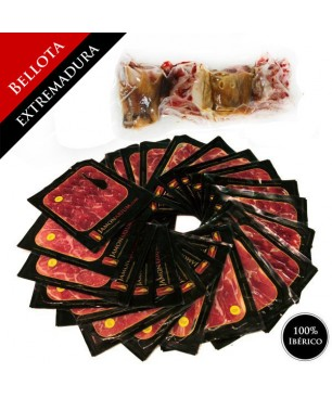 Bellota 100% pure Iberian Ham (Extremadura) - Pata Negra WHOLE sliced