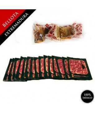 Bellota 100% Iberischen Vorderschinken (Extremadura) - Pata Negra GANZ geschnitten