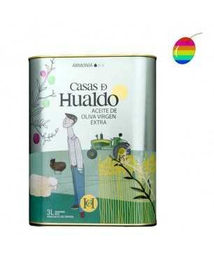 """Casas de Hualdo """"Armonía"""" Coupage 3l, Olivenöl Extra Vergine"""