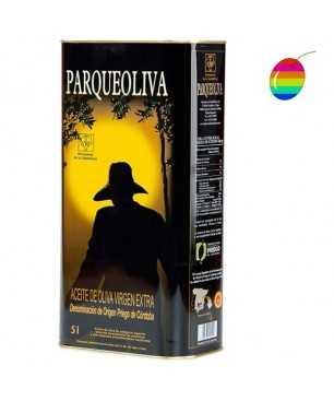 Parqueoliva Coupage 5l, Huile d'Olive Extra Vierge, A.O. Priego de Córdoba