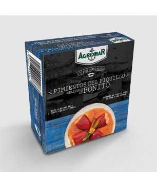 Paprikaschoten gefüllt mit Thunfisch der Bonito Sorte