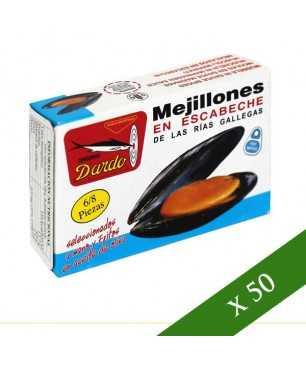 BOX x50 - Mussels in escabeche Dardo 6/8 (Galician Rias)