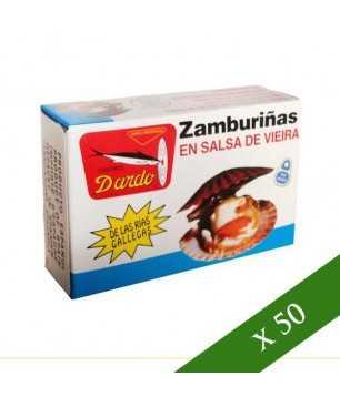 CAJA x50 - Zamburiñas en salsa de vieira Dardo