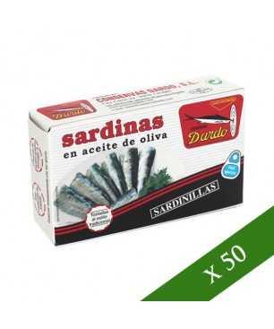 BOITE x50 - Sardines à l'huile d'olive 12/18 Dardo