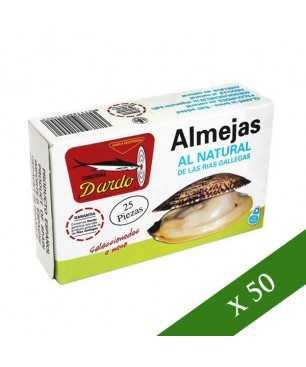 BOX x50 - Natürliche Muscheln 20-30 Stück Dardo (Galizischen Rias)