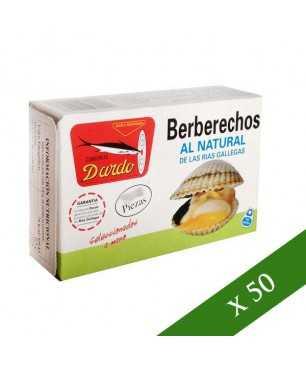 CAJA x50 - Berberechos al natural Dardo 30/35 piezas (Rias Gallegas)