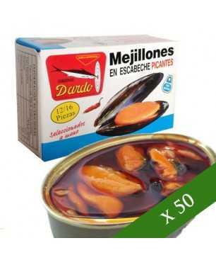CAJA x50 - Mejillones en escabeche picante Dardo 12/16 (Rías Gallegas)