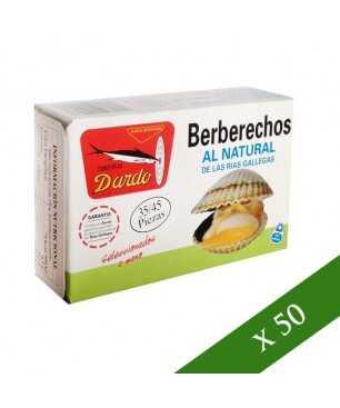 BOX x50 - Dardo cockles natural 35/45 pieces (Rias gallegas)