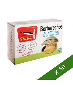 CAJA x50 - Berberechos al natural Dardo 35/45 piezas (Rias Gallegas)
