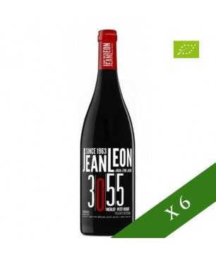 CAIXA x6 - Jean Leon negre jove 3055 Merlot Petit Verdot ecològic, DO Penedès