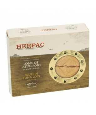 Llom de tonyina vermella en oli d'oliva Herpac 245gr