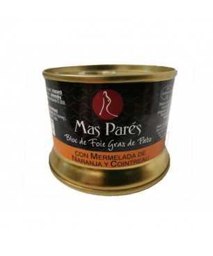 Bloc de Foie Gras de Canard avec Marmelade d'Orange et Cointreau Mas Parés