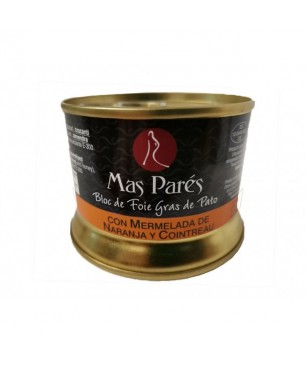 Duck Foie Gras Bloc with Orange Marmalade and Cointreau Mas Parés