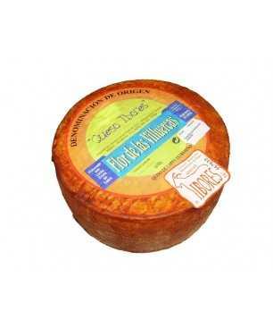 Fromage semiaffiné Flor de Villuercas de lait cru de chèvre A.O. Ibores - ENTIÉR 1 kg