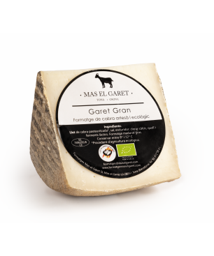 Formatge de llet de cabra artesà i ecològic El Garet Gran - CUNYA