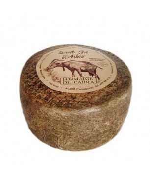 Queso de cabra artesano pequeño de Sant Gil d'Albió ENTERO 500gr